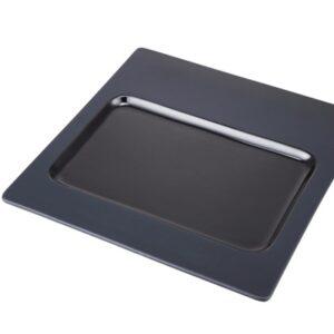 Contra Square Black Plate