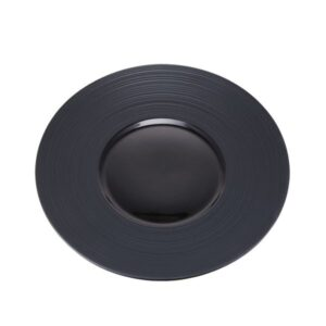 Contra Ribbed Round Plate Black