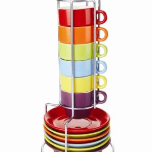 Colours Espresso Set with Stand