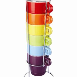 Colours Mug Set with Stand