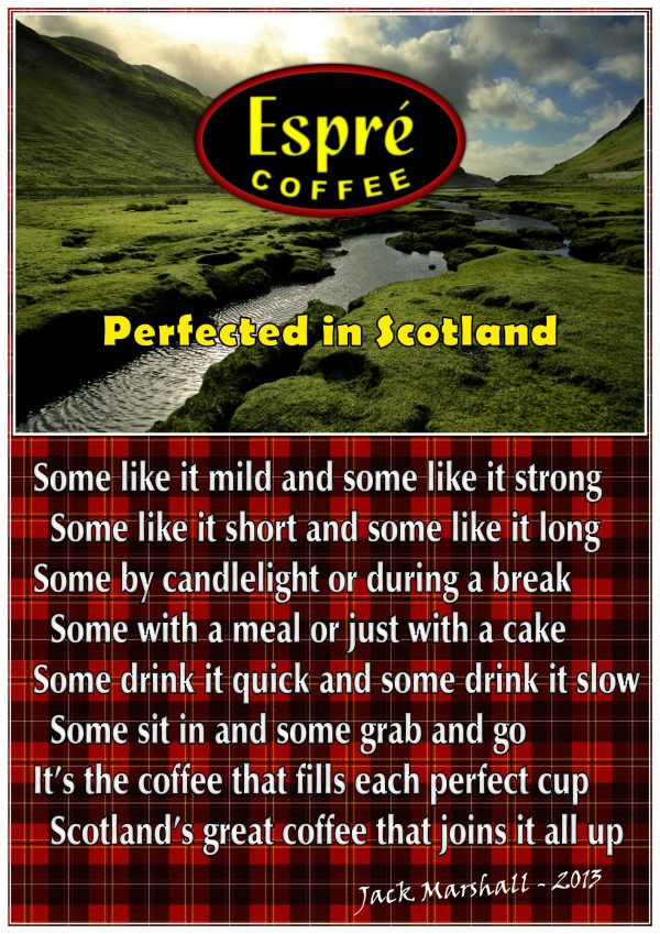 Espre Produced in Scotland