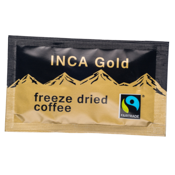 Fairtrade Inca Gold Freeze Dried Coffee Sachets 250 x 1g