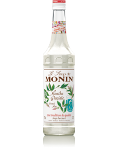 Monin Frosted Mint Syrup 700ml Glass Bottle