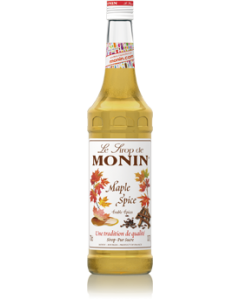 Monin Maple Spice Syrup 700ml Glass Bottle