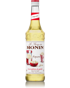 Monin Popcorn Syrup 700ml Glass Bottle