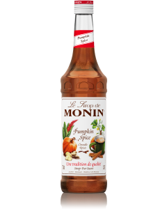 Monin Pumpkin Spice Syrup 700ml Glass Bottle