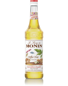 Monin Toffee Nut Syrup 700ml Glass Bottle