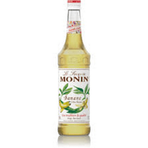 Monin Banana Syrup 700ml Glass Bottle