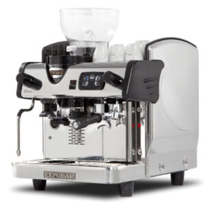 Zircon 1 group espresso machine with integrated grinder