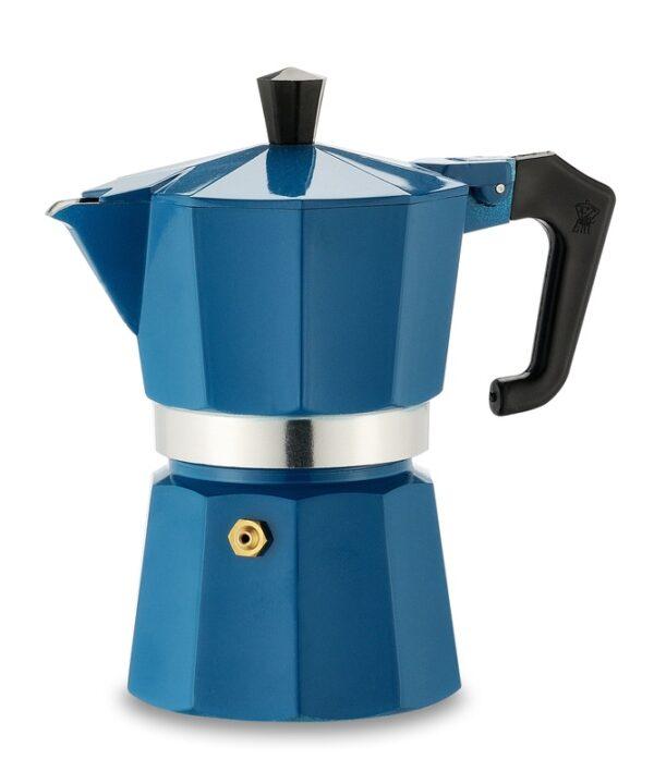Pezzetti Italexpress Moka Pot 3 Cup Blue
