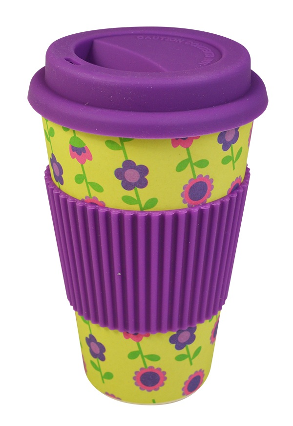 Bamboo Travel Mug Floral