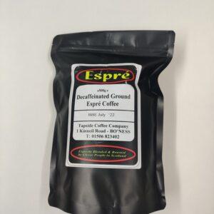 Ground decaf coffee