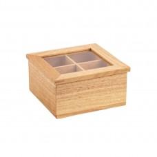 Olympia Mini Hevea Wood Tea Box