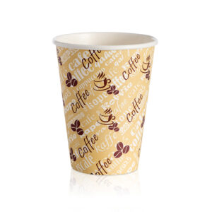 12oz Single Wall Red Bean Paper Cup