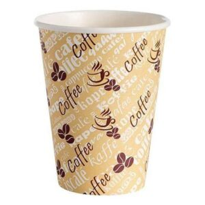 8oz Single Wall Red Bean Paper Cup