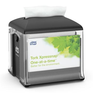 Tork Xpressnap Snack Tabletop Napkin Dispenser Black